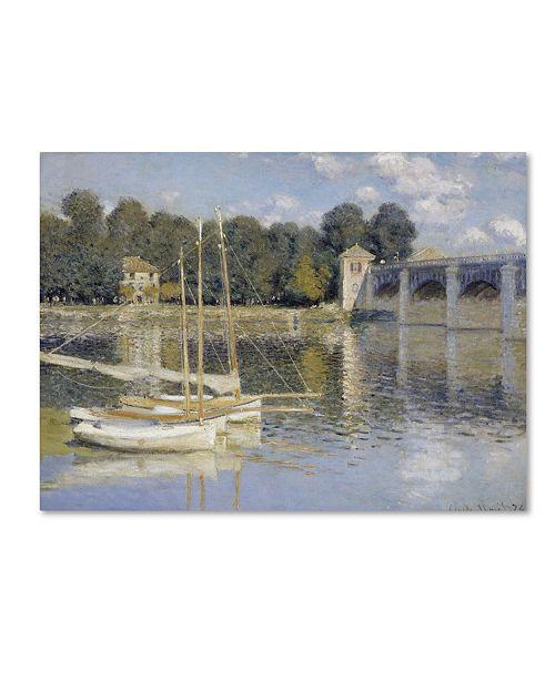 "Trademark Global Monet 'The Argenteuil Bridge' Canvas Art - 19"" x 14"" x 2"""