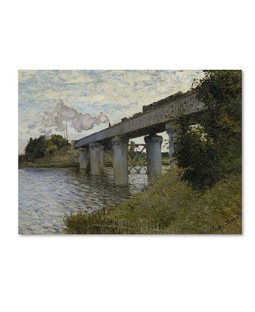 "Trademark Global Monet 'The Railroad Bridge In Argenteuil' Canvas Art - 32"" x 24"" x 2"""