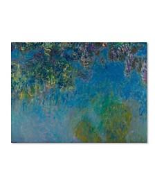 "Monet 'Wisteria' Canvas Art - 19"" x 14"" x 2"""