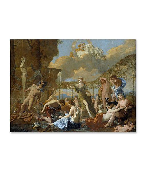 "Trademark Global Nicolas Poussin 'The Empire Of Flora' Canvas Art - 24"" x 18"" x 2"""