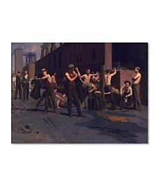 """Thomas Anshutz 'The Iron Workers' Canvas Art - 32"""" x 24"""" x 2"""""""
