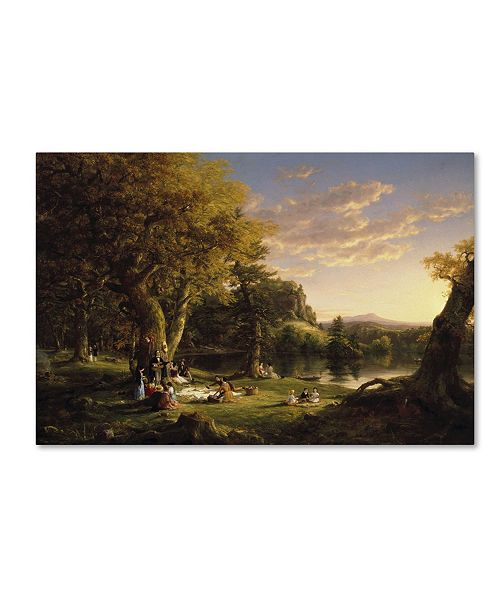 "Trademark Global Thomas Cole 'The Picnic' Canvas Art - 32"" x 22"" x 2"""