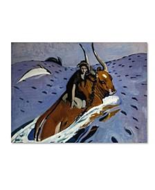 "Valentin Serov 'The Rape Of Europa' Canvas Art - 24"" x 18"" x 2"""