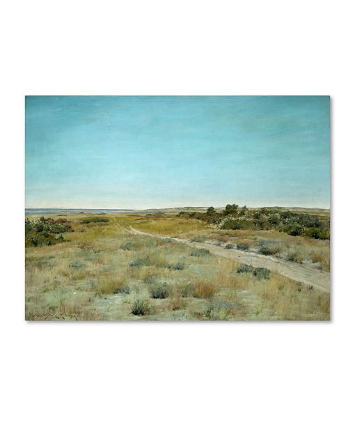 "Trademark Global William Merritt Chase 'First Touch Of Autumn' Canvas Art - 19"" x 14"" x 2"""