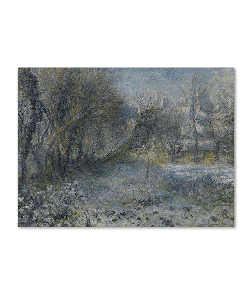 "Trademark Global Pierre Renoir 'Snowy Landscape' Canvas Art - 47"" x 35"" x 2"""