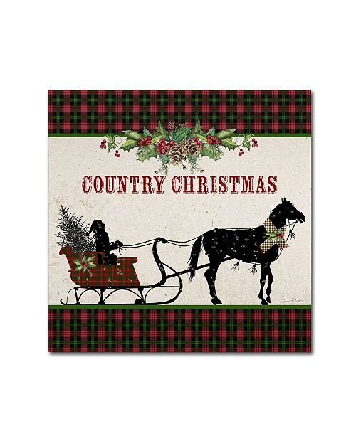 """Trademark Global Jean Plout 'Country Christmas 3' Canvas Art - 35"""" x 35"""" x 2"""""""