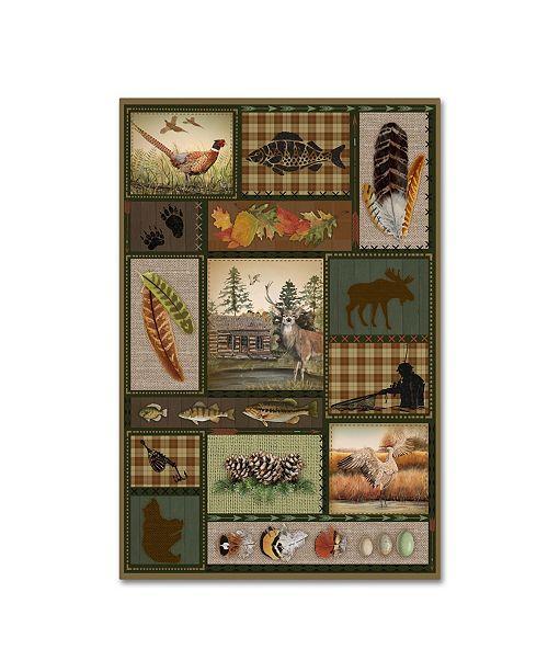 "Trademark Global Jean Plout 'Wilderness Lodge 19' Canvas Art - 24"" x 16"" x 2"""