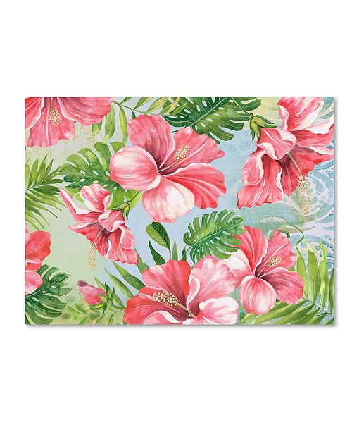 """Trademark Global Jean Plout 'Hibiscus Paradise 2' Canvas Art - 24"""" x 18"""" x 2"""""""