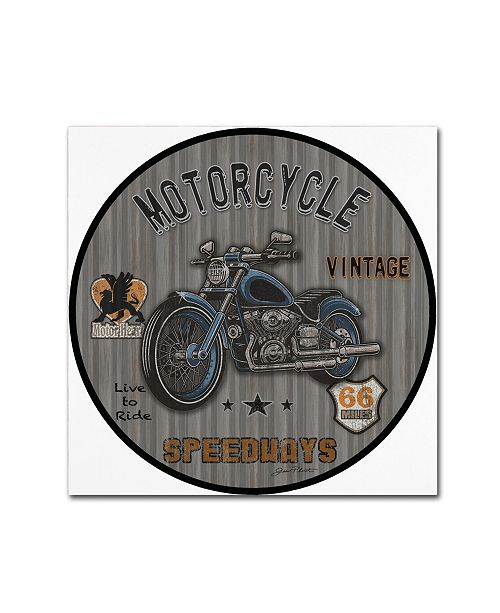 """Trademark Global Jean Plout 'Motorcycle Speedway 4' Canvas Art - 24"""" x 24"""" x 2"""""""
