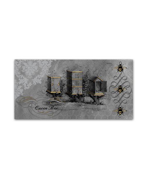 "Trademark Global Jean Plout 'Queen Bee 7' Canvas Art - 32"" x 16"" x 2"""