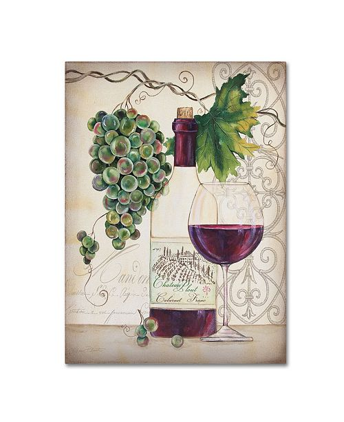"Trademark Global Jean Plout 'Chateau Plout Wine 2' Canvas Art - 32"" x 24"" x 2"""