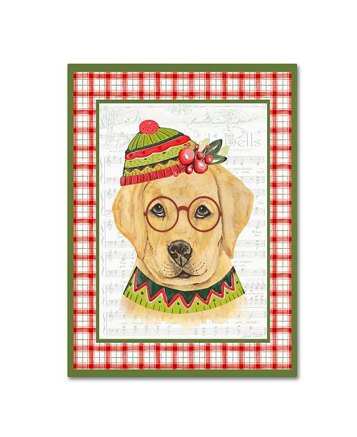 """Trademark Global Jean Plout 'Christmas Song Dogs 2' Canvas Art - 32"""" x 24"""" x 2"""""""