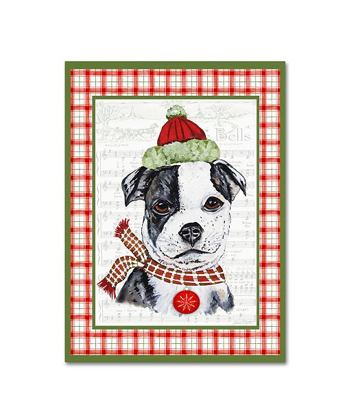 """Trademark Global Jean Plout 'Christmas Song Dogs 7' Canvas Art - 32"""" x 24"""" x 2"""""""