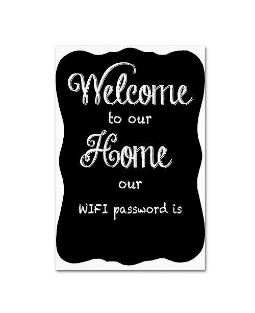 """Trademark Global Jean Plout 'Welcome Home 8' Canvas Art - 32"""" x 22"""" x 2"""""""