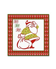 "Jean Plout 'Ugly Christmas Sweater Santa 3' Canvas Art - 18"" x 18"" x 2"""