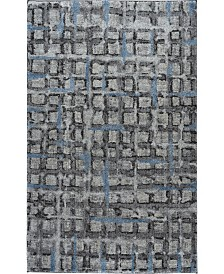 """D Style Tempo Tem7 Pewter 5'3"""" x 7'7"""" Area Rug"""