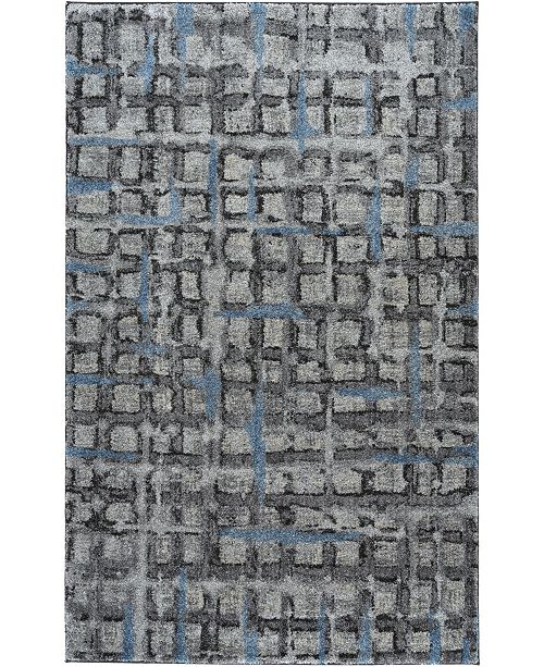 "D Style Tempo Tem7 Pewter 5'3"" x 7'7"" Area Rug"
