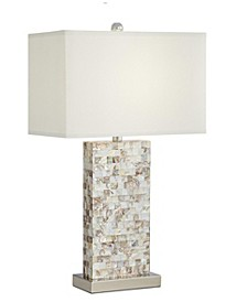 Mother of Pearl Rectangle Block Table Lamp