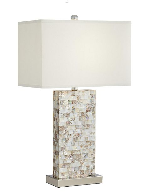 Pacific Coast Mother of Pearl Rectangle Block Table Lamp
