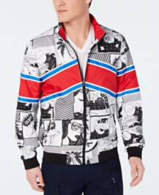 I.N.C. Men's Comics Printed Track Jacket, Created for Macy's