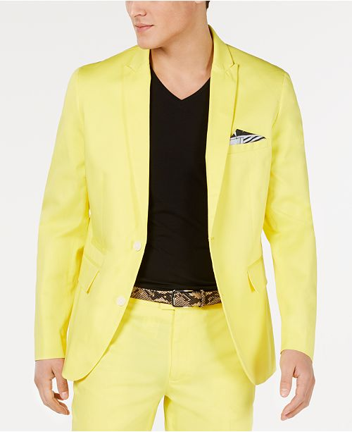 INC International Concepts I.N.C. Men's Pop-Color Slim-Fit Blazer, Created for Macy's