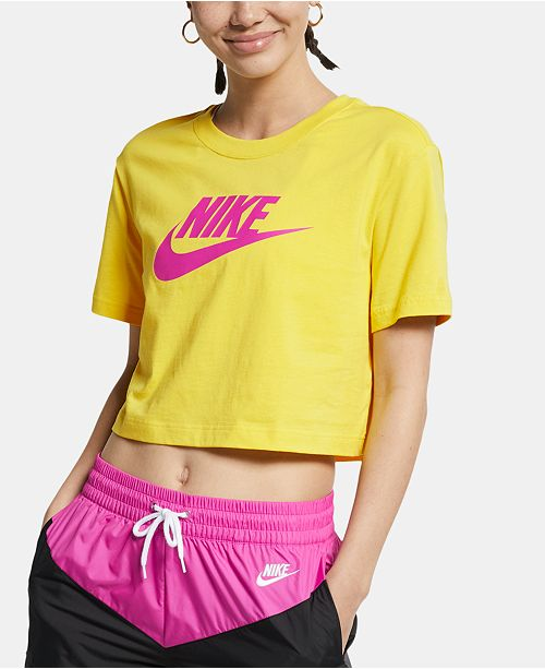 Nike Sportswear Cotton Logo Cropped T-Shirt