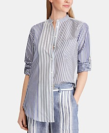 Lauren Ralph Lauren Petite Striped Shirt