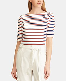 Lauren Ralph Lauren Petite Striped Stretch Top