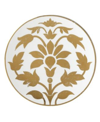 Global Tapestry Gold Lotus Accent/Salad Plate,