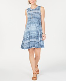 Style & Co Petite Printed Swing Dress, Created for Macy's