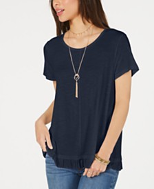 Style & Co Ruffled-Hem Top, Created for Macy's