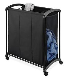Whitmor 3-Section Rolling Laundry Sorter