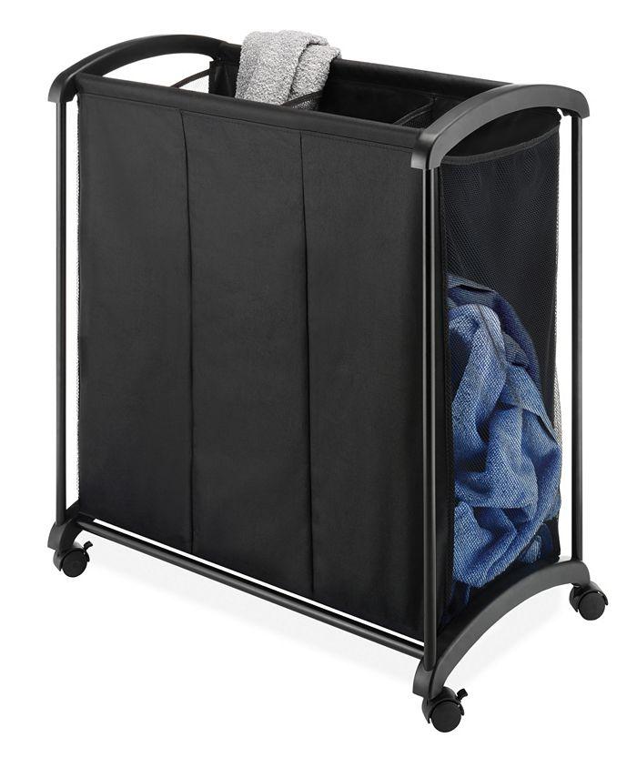 Whitmor - 3-Section Rolling Laundry Sorter