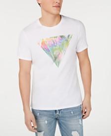 GUESS Men's Multicolor Logo Graphic T-Shirt