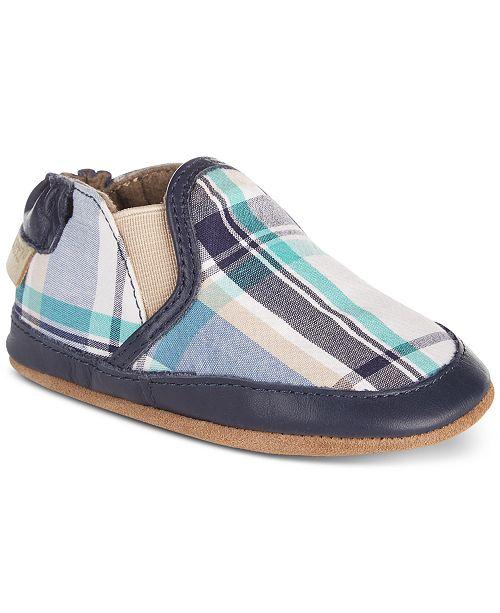 Robeez Baby Boys Liam Plaid Soft Sole Shoes