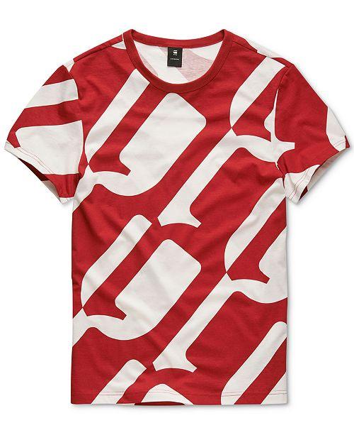 G Star Raw Men's Geometric T Shirt, Created for Macy's
