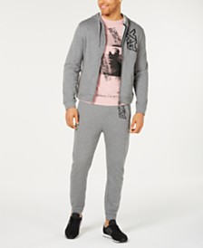 A|X Armani Exchange Men's Zip-Front Logo Hoodie