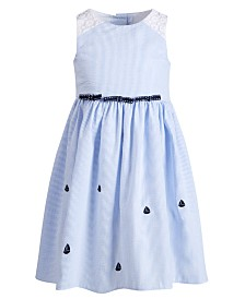 Good Lad Little Girls Seersucker Nautical Dress