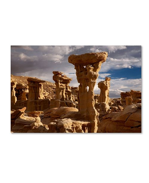 "Trademark Global Mike Jones Photo 'Ah She Sle Pah Alien Throne' Canvas Art - 47"" x 30"" x 2"""