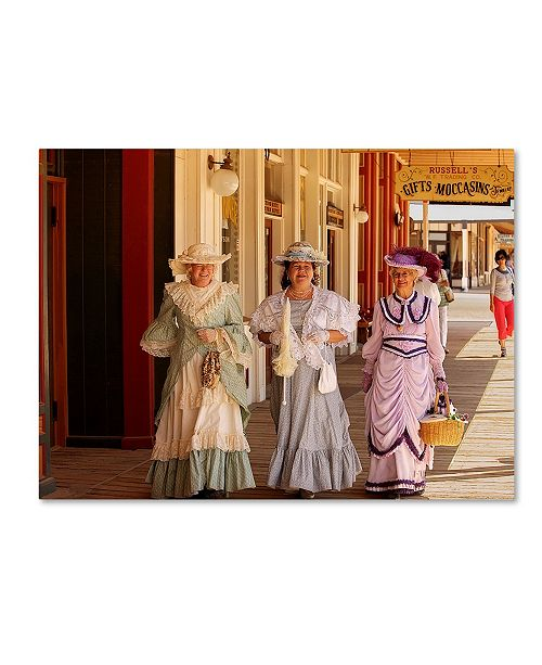 "Trademark Global Mike Jones Photo 'Tombstone Ladies' Canvas Art - 24"" x 18"" x 2"""