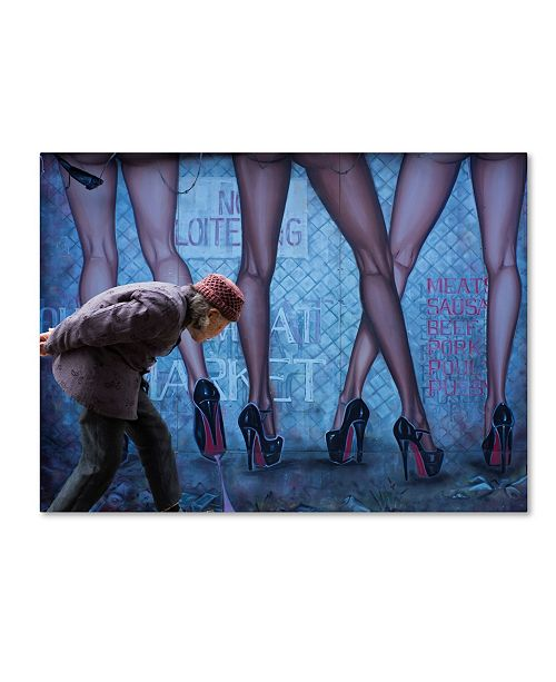"Trademark Global Moises Levy 'Legs Al' Canvas Art - 47"" x 35"" x 2"""