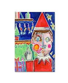 """Wyanne 'Elf The Shelf' Canvas Art - 32"""" x 22"""" x 2"""""""