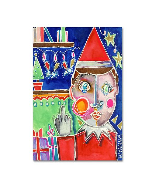 "Trademark Global Wyanne 'Elf The Shelf' Canvas Art - 32"" x 22"" x 2"""