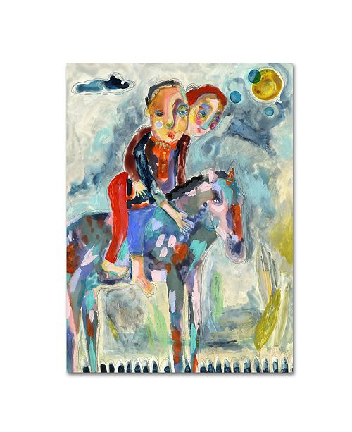"""Trademark Global Wyanne 'Whos Driving This Pony' Canvas Art - 19"""" x 14"""" x 2"""""""
