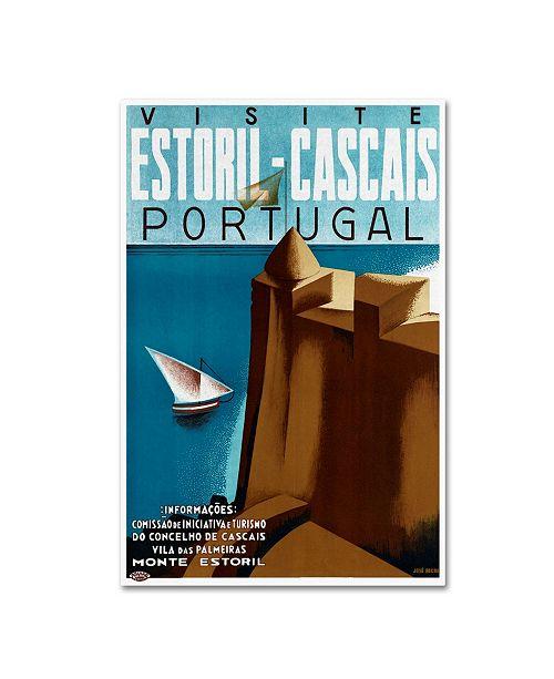 "Trademark Global Vintage Lavoie 'Travel 57' Canvas Art - 24"" x 16"" x 2"""