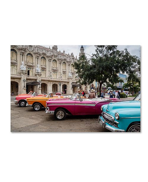 """Trademark Global Robert Harding Picture Library 'Old Cars' Canvas Art - 24"""" x 16"""" x 2"""""""