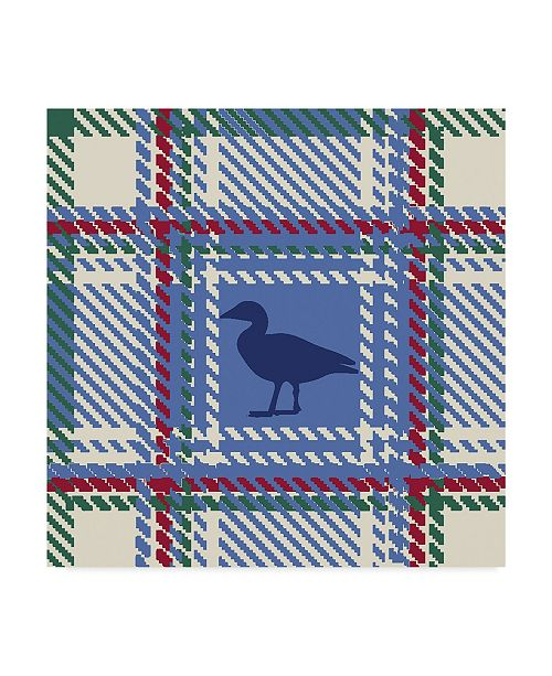 "Trademark Global Sher Sester 'Lodge Duck Plaid Cream' Canvas Art - 18"" x 18"" x 2"""