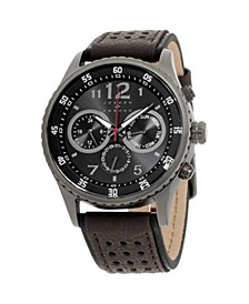 Men's Analog Leather Watch