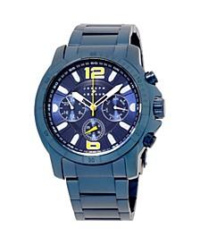 Men's Analog Blue Stainless Steel Bracelet Watch 28mm