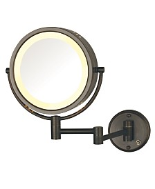 "The Jerdon HL75BZD 8.5"" Wall Mount Lighted Makeup Mirror"